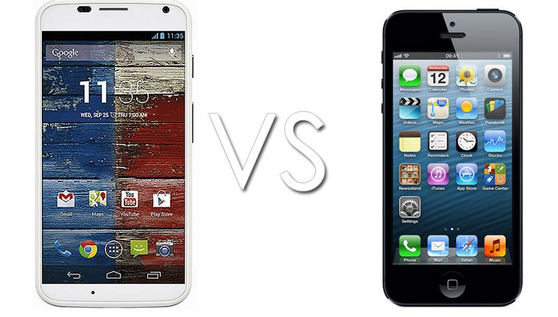 Moto X vs iPhone 5: grande sfida