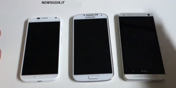 Moto X vs Galaxy S4 vs HTC One (video)