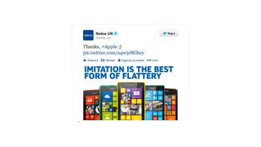 Nokia, tweet per Apple: L'imitazione è la migliore forma di adulazione