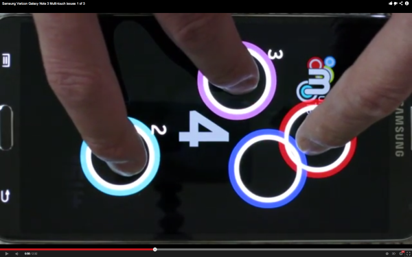 Galaxy note 3, problema al multitouch
