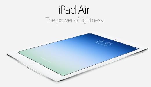 Arriva iPad Air: il nuovo tablet di casa Apple ispirato all'ideologia di MarBook Air