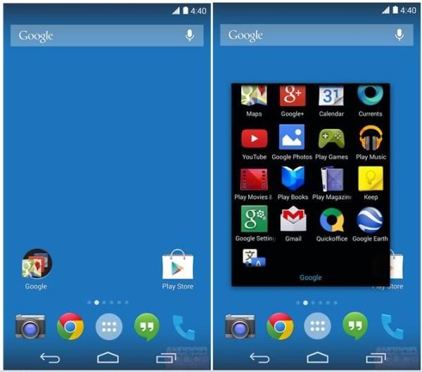 Mostrate le nuovi immagini della Home di Android 4.4 KitKat