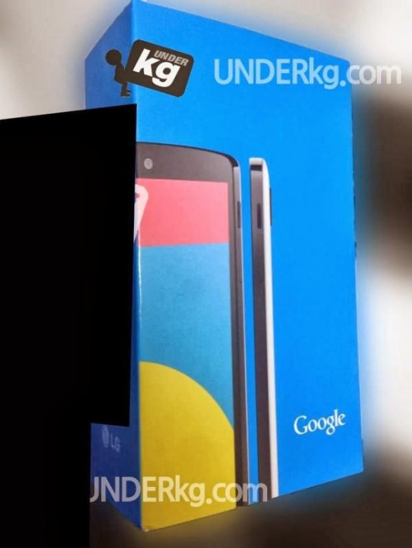 Nexus 5: ecco la confezione di vendita