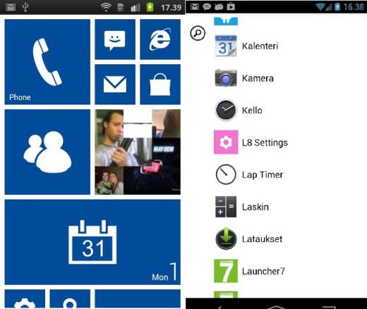 Da Android a Windows phone grazie ad un launcher
