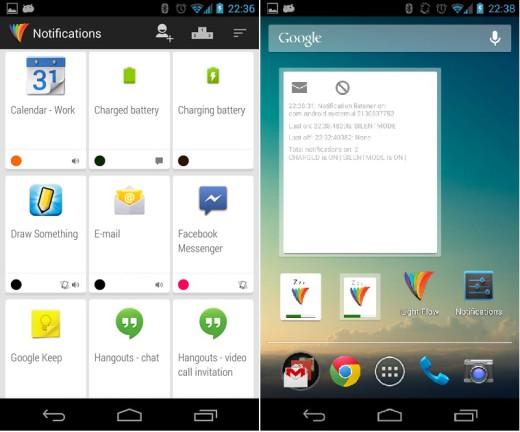 Si aggiorna Light Flow per il supporto della nuova versione di Android 4.4 e per Nexus 5