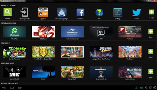 Si aggiorna Bluestack per avere app Android su PC e Mac