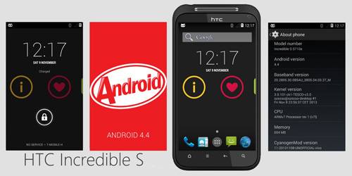 Android 4.4 KitKat anche su HTC Incredible S