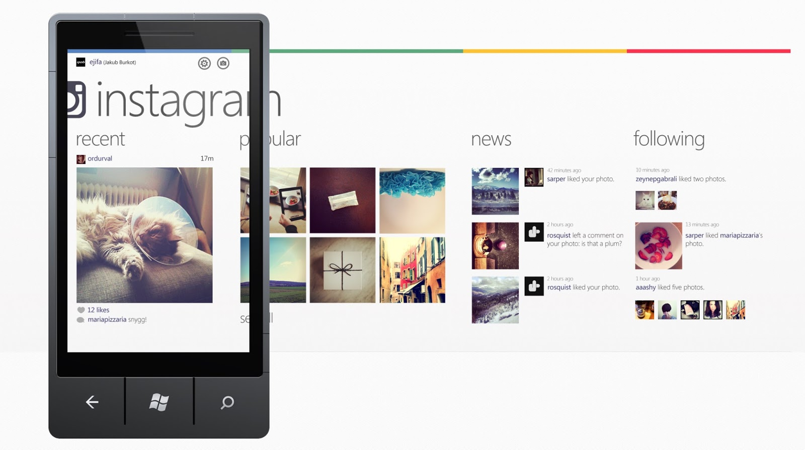 Finalmente Instagram sbarca ufficialmente su Windows Phone, per adesso senza supporto video