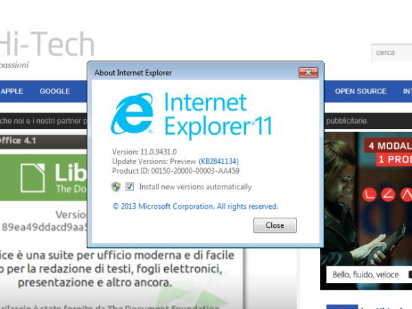 Internet Explorer 11, Bing sorprendente!