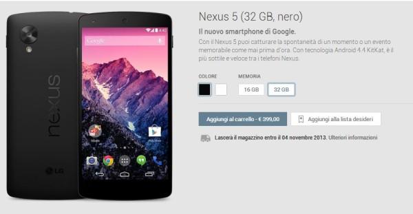 Vi racconto la mia esperienza relativa all'acquisto del Nexus 5 tramite Play Device