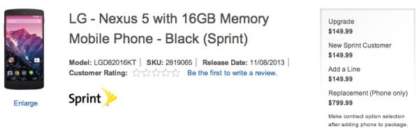 Lo strano caso del prezzo del Nexus 5