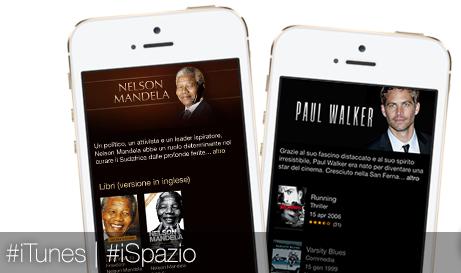 Apple dedica due pagine di iTunes a Nelson Mandela e Paul Walker