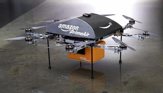 Amazon sta creando un nuovo metodo di spedizione che si chiamerà Amazon Prime Air. Sarà possibile ricevere i prodotti in meno di 30 minuti con l'ausilio di Droni!!