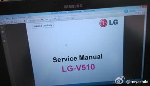 Ecco le nuove immagini del device LG-V510 (non Nexus 8)