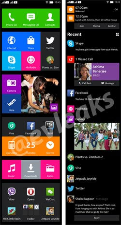 Screenhost di Nokia Normandi