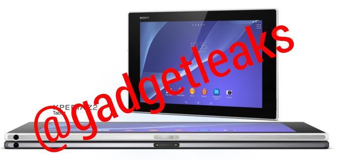 Sony Xperia Tablet Z2,vediamo le prime immagini