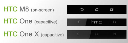 Saranno sul display i tre tasti navigazione di Htc M8 ?