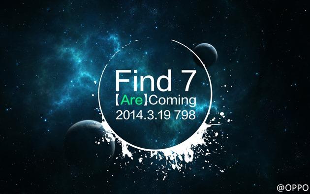 Oppo Find 7 verrà finalmente annunciato il 19 marzo
