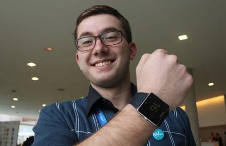 Un membro di Newsgeek.it intervistato da BBC al MWC 2014 di Barcellona