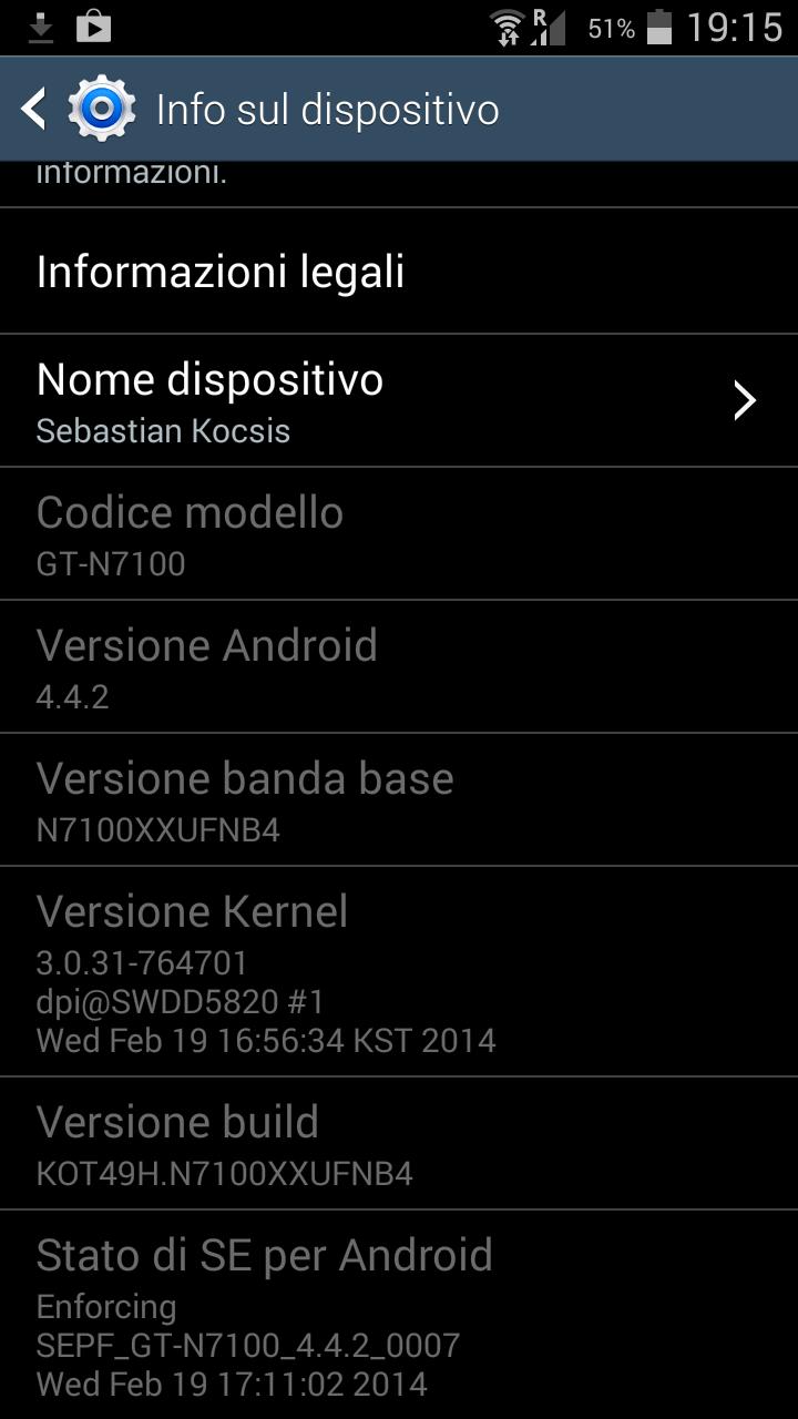 Android 4.4.2 su Galaxy Note 2: primo firmware leaked deodexed (GUIDA)(Aggiornamento)
