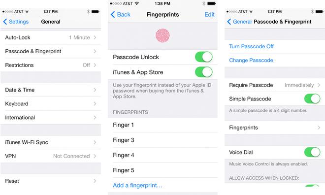 Come ripristinare Touch ID iPhone per iOS 7.1