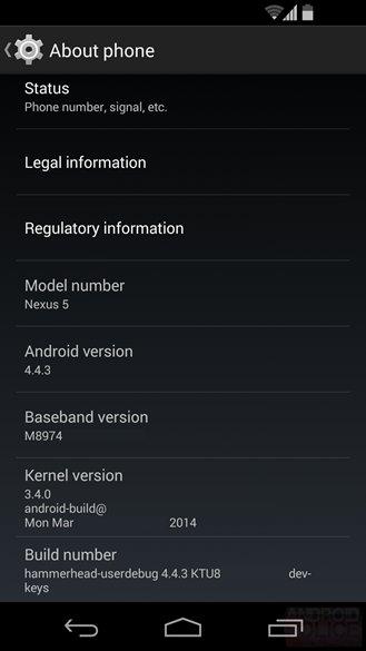 Iniziata la fase di test per Android 4.4.3