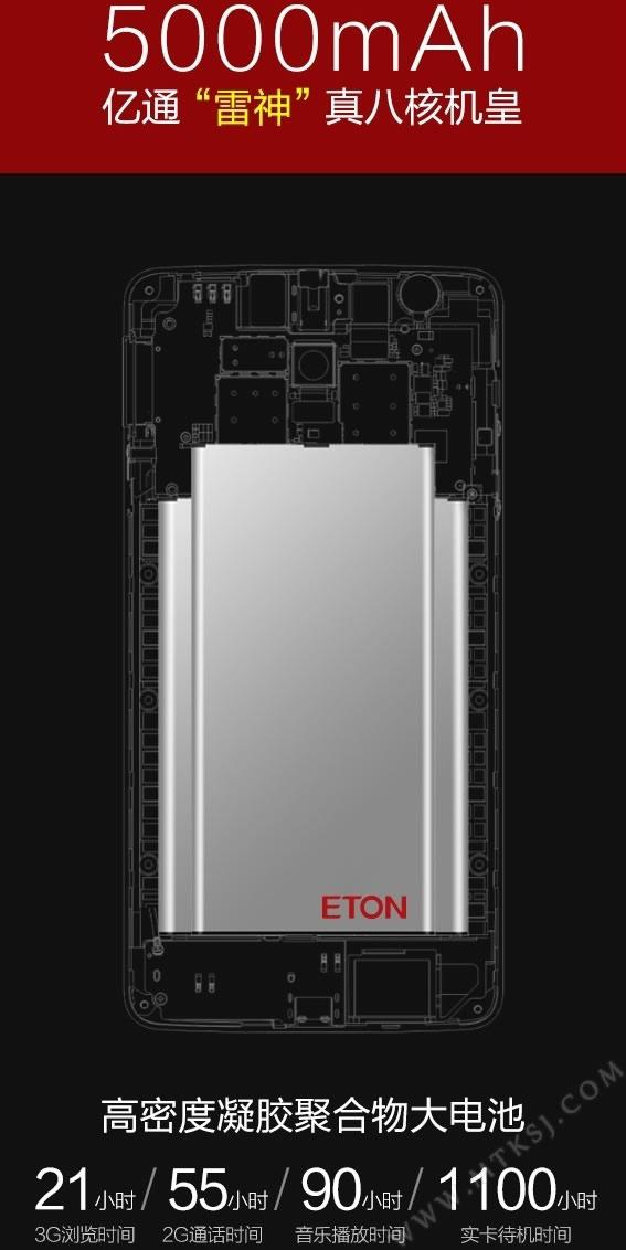 Eton Thor,il primo smartphone con una batteria da 5000 mah !