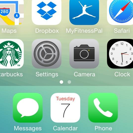 Utilizzare le icone di iOS 7.1 con iPhone iOS 7