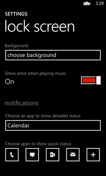 Personalizzare lock screen Windows Phone: Impostazioni base