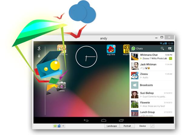 Utilizzare app Android su Windows e Mac OS X con Andyroid