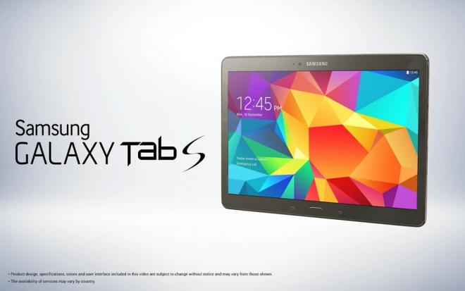 Samsung Galaxy Tab S confermato:Sensore di impronte digitali e design sottile