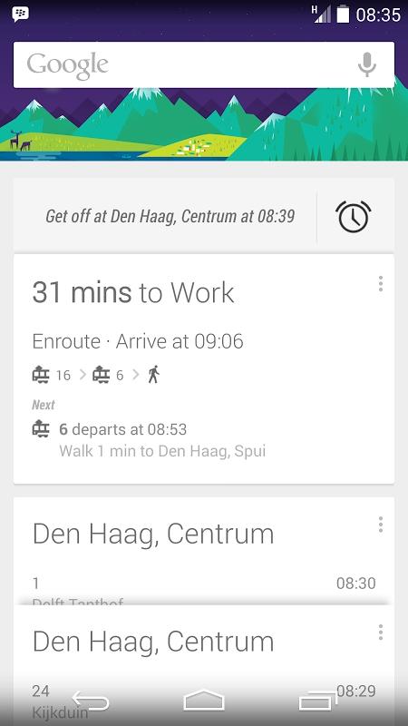 Google Now presto avrà la funzione che sveglierà il pendolare quando è nei pressi della sua fermata