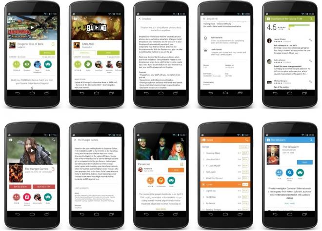 Google Play Store si aggiorna con l'implementazione del Material Design