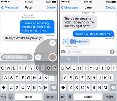 Creare rapidamente messaggi audio con iPhone