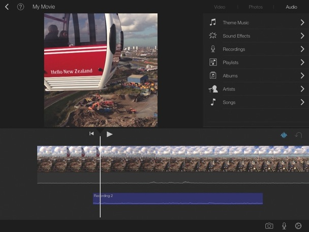 Aggiungere tracce musicali multiple con iMovie iPad
