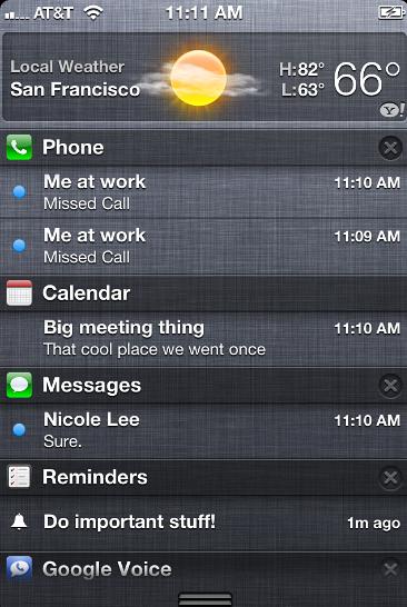 Cambiare l'ordine di visualizzazione Notification Center iPhone