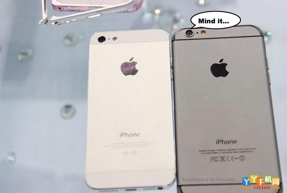 Ecco nuove foto che mostrano il confronto dimensionale di iPhone 5s e iPhone 6