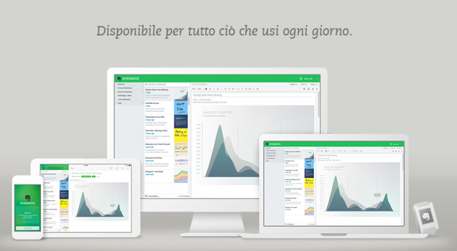 Evernote si aggiorna e introduce la grafica material design