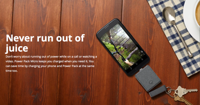 Motorola presenta due accessori per non rimanere mai senza energia [Foto e Video]