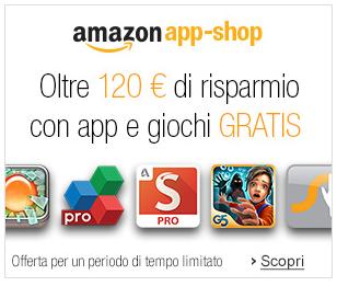 Amazon App Shop regala 120 euro di applicazioni