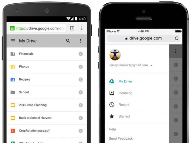 Il Material Design arriva anche su Google Drive