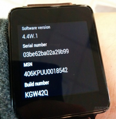 Aggiornamento LG G Watch: riceve Android Wear 4.4W.1