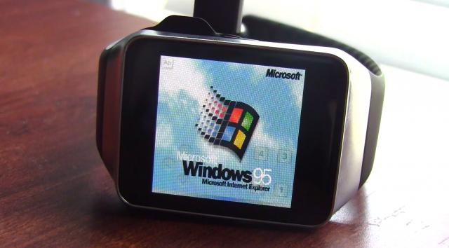 Windows 95 emulato su Samsung Galaxy Gear Live