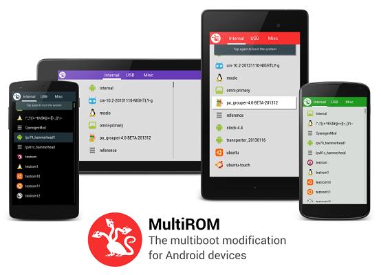 MultiROM:Finalmente disponibile la versione la versione stabile su XDA