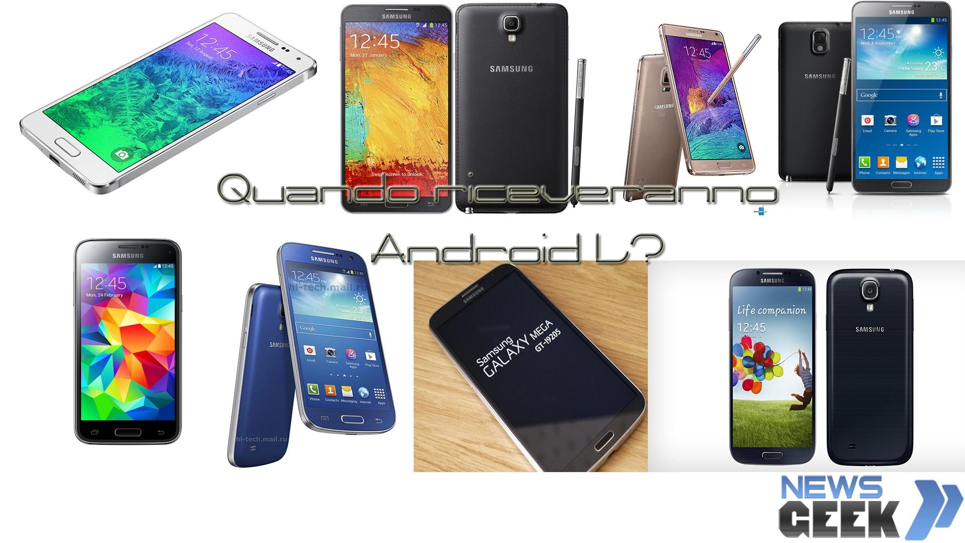 Samsung ed Android L:Quando arriverà per i suoi Device(Android Lollipop)?