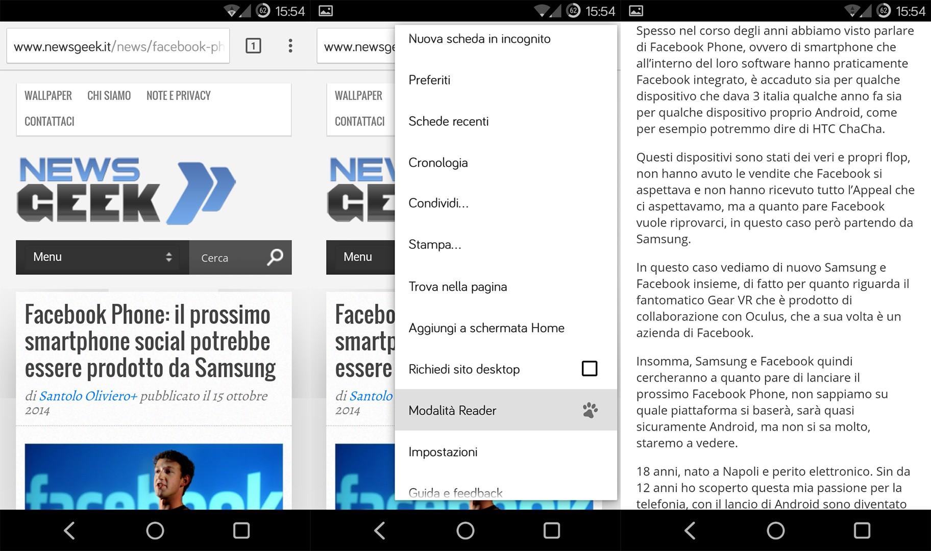 Google Chrome Beta si aggiorna alla versione 39 introducendo la modalità Reader