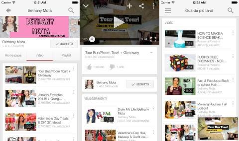 Youtube si aggiorna con il supporto ad iPhone 6