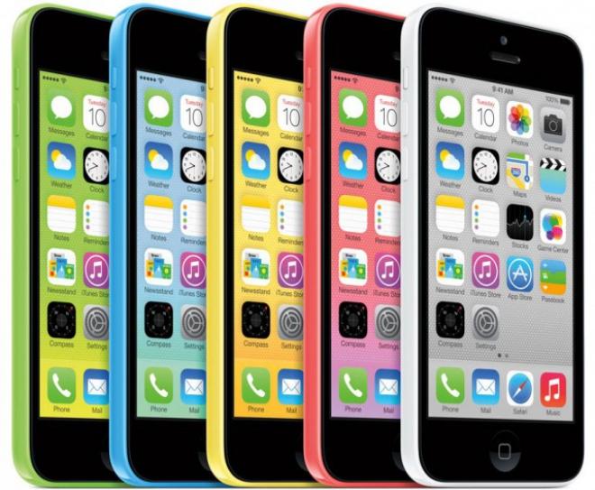 iPhone 5C di Apple era il prodotto più venduto prima dell'arrivo di iPhone 6 in UK