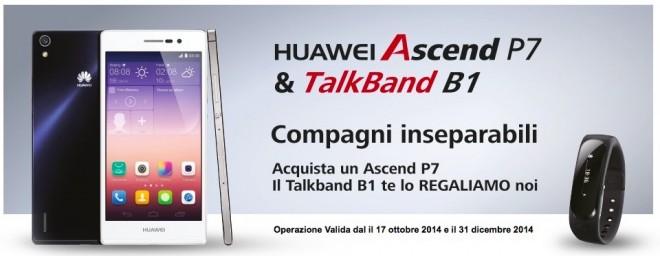 TalkBand B1 in regalo per chi acquista un Ascend P7 di Huawei