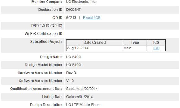 LG Liger riceve la certificazione per l'antenna Bluetooth: il primo smartphone con SoC Odin